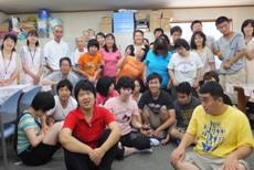 障害者施設での歯科保健活動2