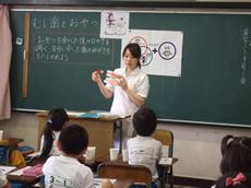 並木小学校の歯磨き指導2